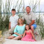 family of four among sea oats ponce inlet lighthouse park copyright cooper photography daytona beach florida
