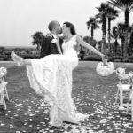 Black and White photo Hammock Dunes wedding