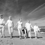 black and white family beach photo copyright cooper photography daytona beach florida